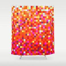 Inferno -- Pixel Art by KCS Shower Curtain