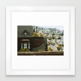 House on a Hill Framed Art Print