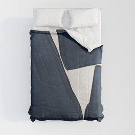 Minimalist Painting Blue III, Mid Century Modern Comforters