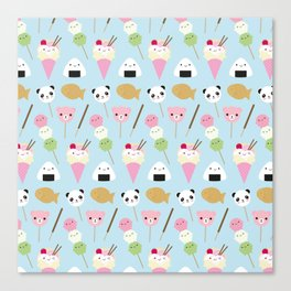 Japanese Kawaii Snacks Canvas Print