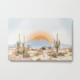 Arizona Sun rise Metal Print