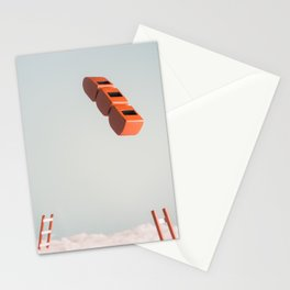 Roller coaster jump Stationery Cards
