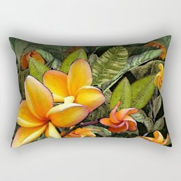Hawaiian Plumeria at First Light Rectangular Pillow
