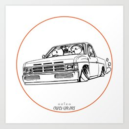 Crazy Car Art 0207 Art Print