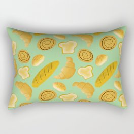 Bread lovers pattern // carb lovers pattern // food pattern Rectangular Pillow