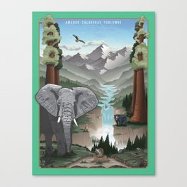 Animal Scapes - An Unparalleled Wonder Canvas Print