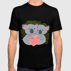 Koala innamorati Black Mens Fitted Tee LARGE