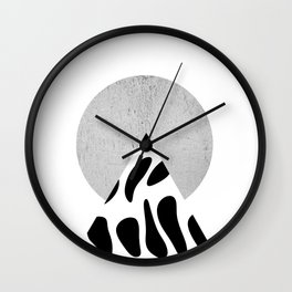 Mountain And Sun Collage Wall Clock