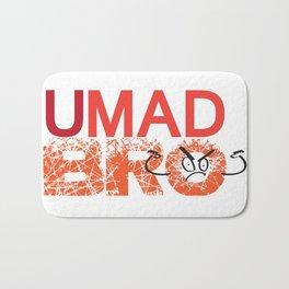 U Mad Bro Orange Bath Mat