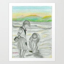 Turtle Rescue Art Print