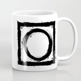 Black and white shapes splatter Coffee Mug