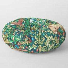 William Morris Fox and Pheasant Tapestry Print Floor Pillow