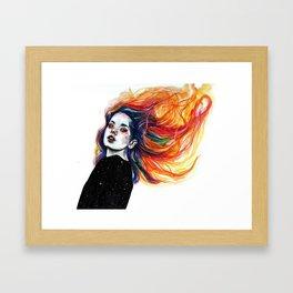 Phoenix girl Framed Art Print