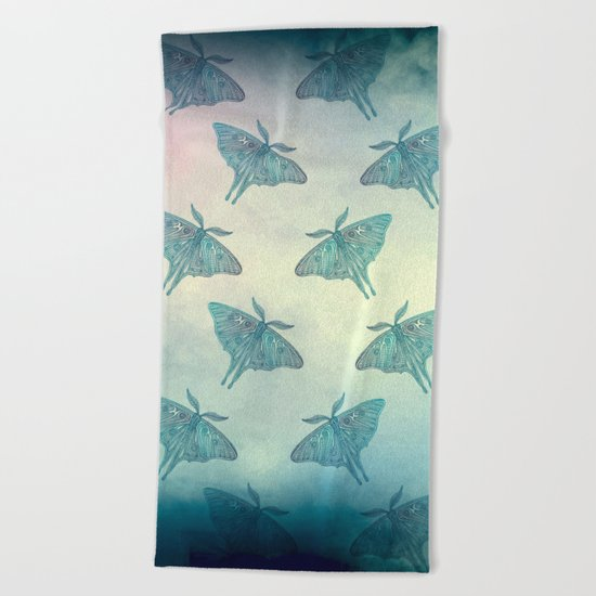 Moth Pattern Beach Towel