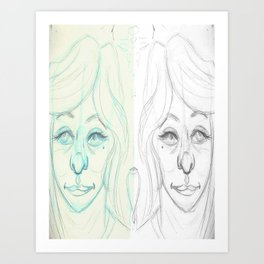 Both Ways Art Print