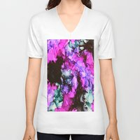 siren V-neck T-shirts featuring Siren by Claire Day