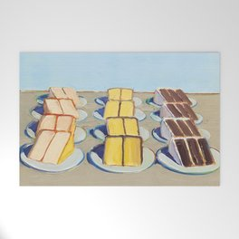 "Classical Masterpiece ""Cake Rows"" by Wayne Thiebaud,1920 Welcome Mat"