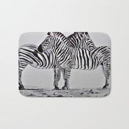African Zebras Bath Mat