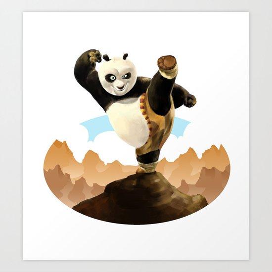 KUNG FU PANDA Art Print