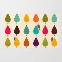 leaves Area & Throw Rugs featuring Leaves by Kakel