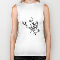 antler Biker Tanks featuring deer antler by oslacrimale