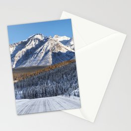 Winter Wonderland - Road in the Canadian Rockies Stationery Cards