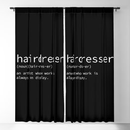 hairdresser Blackout Curtain