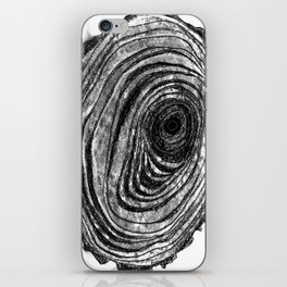 Tree Rings - Dark iPhone Skin