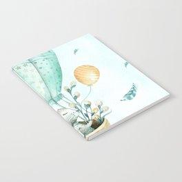 Cute Easter Bunny Hot Balloon Notebook