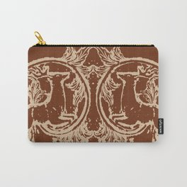 Chocolate Asheville Stags a Leaping Carry-All Pouch