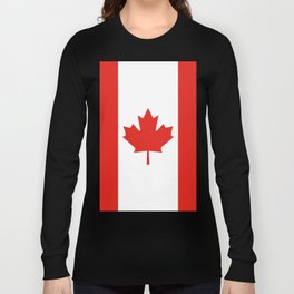 Red and White Canadian Flag Long Sleeve T-shirt