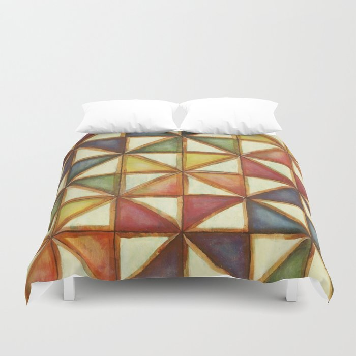 Rainbow Pinwheel Duvet Cover