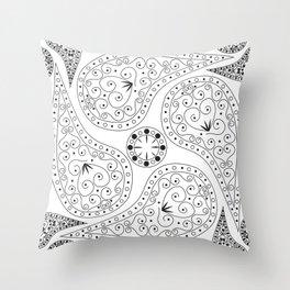 Black & White Coordination Throw Pillow
