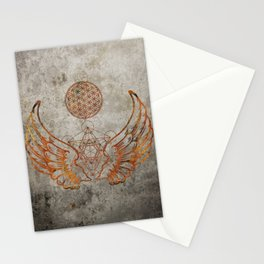 Angel Wings Metatron Flower of Life Stationery Cards