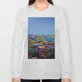 Cerro Artilleria, Valparaiso, Chile Long Sleeve T-shirt