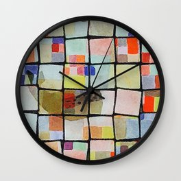 whale in reassembled color squares Wall Clock