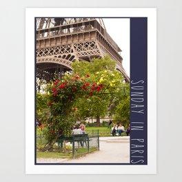 Photo: Sunday in Paris (2 June 13) Art Print