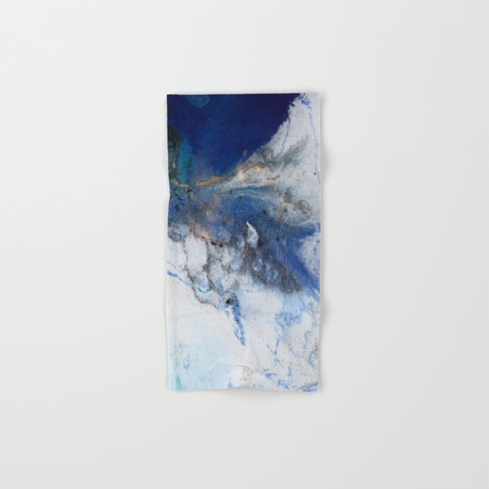 Abstract blue marble Hand & Bath Towel
