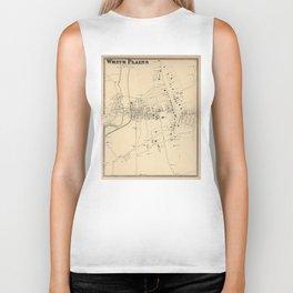 Vintage Map of White Plains NY (1867) Biker Tank