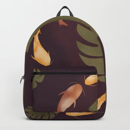 Koi fishes in Monstera, Leaves, Plant Backpack