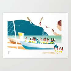 Illustre Conero - Fishing Art Print