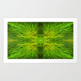 Electric Lemon Lime Sunset by Chris Sparks Art Print