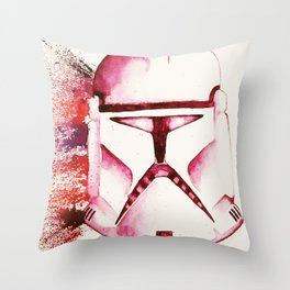 Red Clone Trooper Throw Pillow