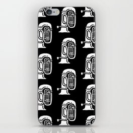 Tuba Pattern Black and White iPhone Skin