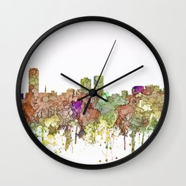 Baton Rouge, Louisiana Skyline SG - Faded Glory Wall Clock