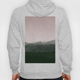 Mountains | Green + Pink Hoody