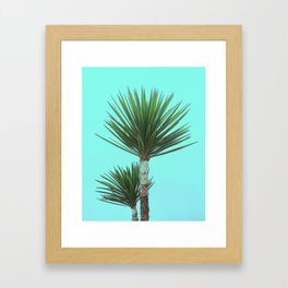 Explosive Palm Leaves Grow on Wild Tropical Island Plant Framed Art Print