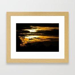 Sunset on the Kinabatangan Framed Art Print