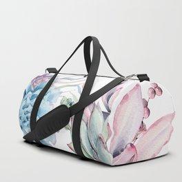 Pretty Pastel Succulents Garden 1 Duffle Bag