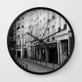 Paris in Black and White, Quartier Latin Wall Clock